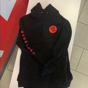 Cyclebar black hoodie size large zip sides
